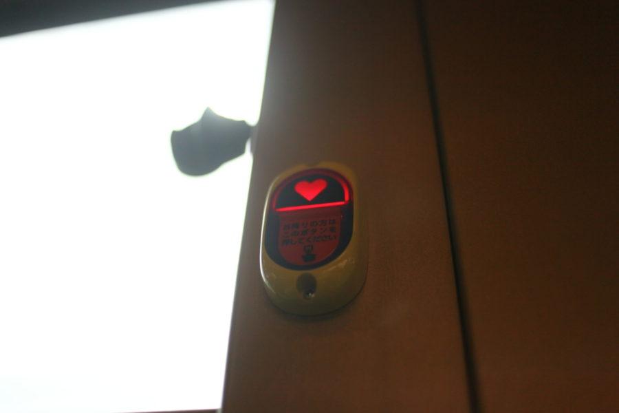 ハートのボタン