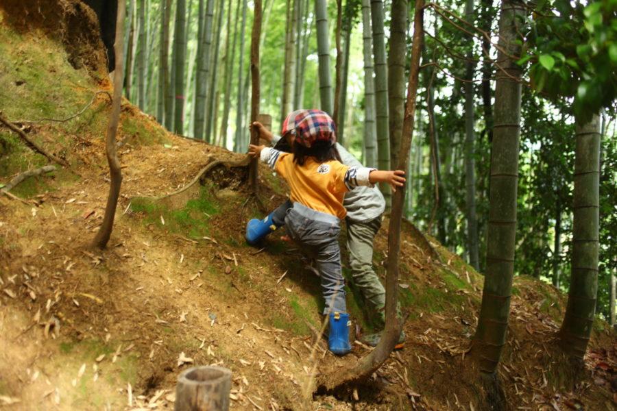 登り方をレクチャー