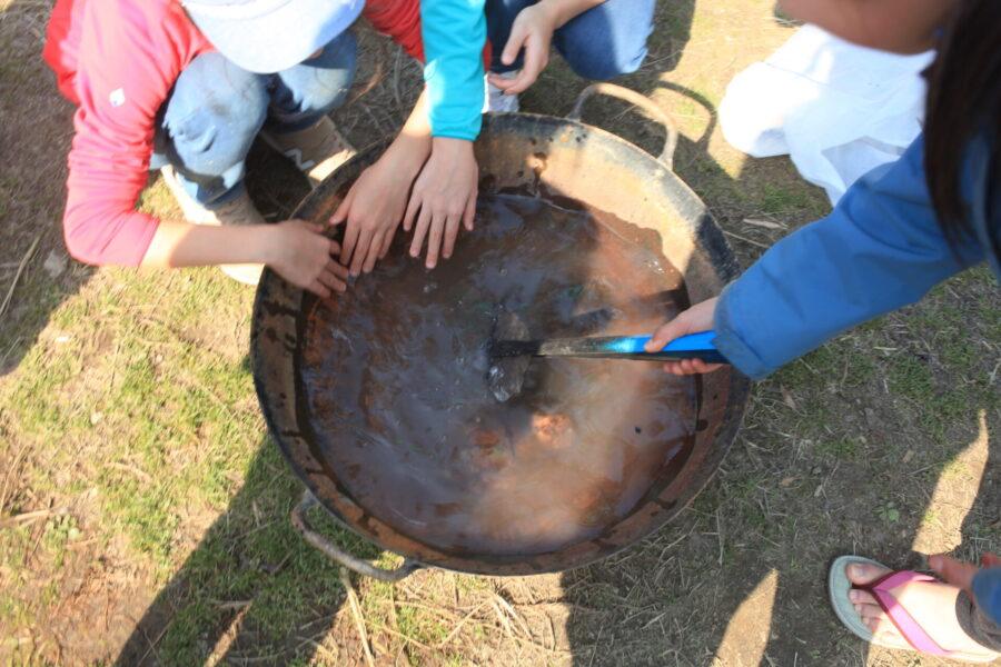 水に焼け石